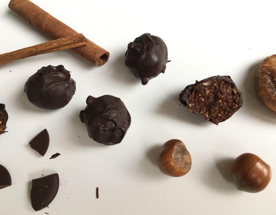 Chocoladeballetjes met vijgen en kaneel - Chocoladezusjes